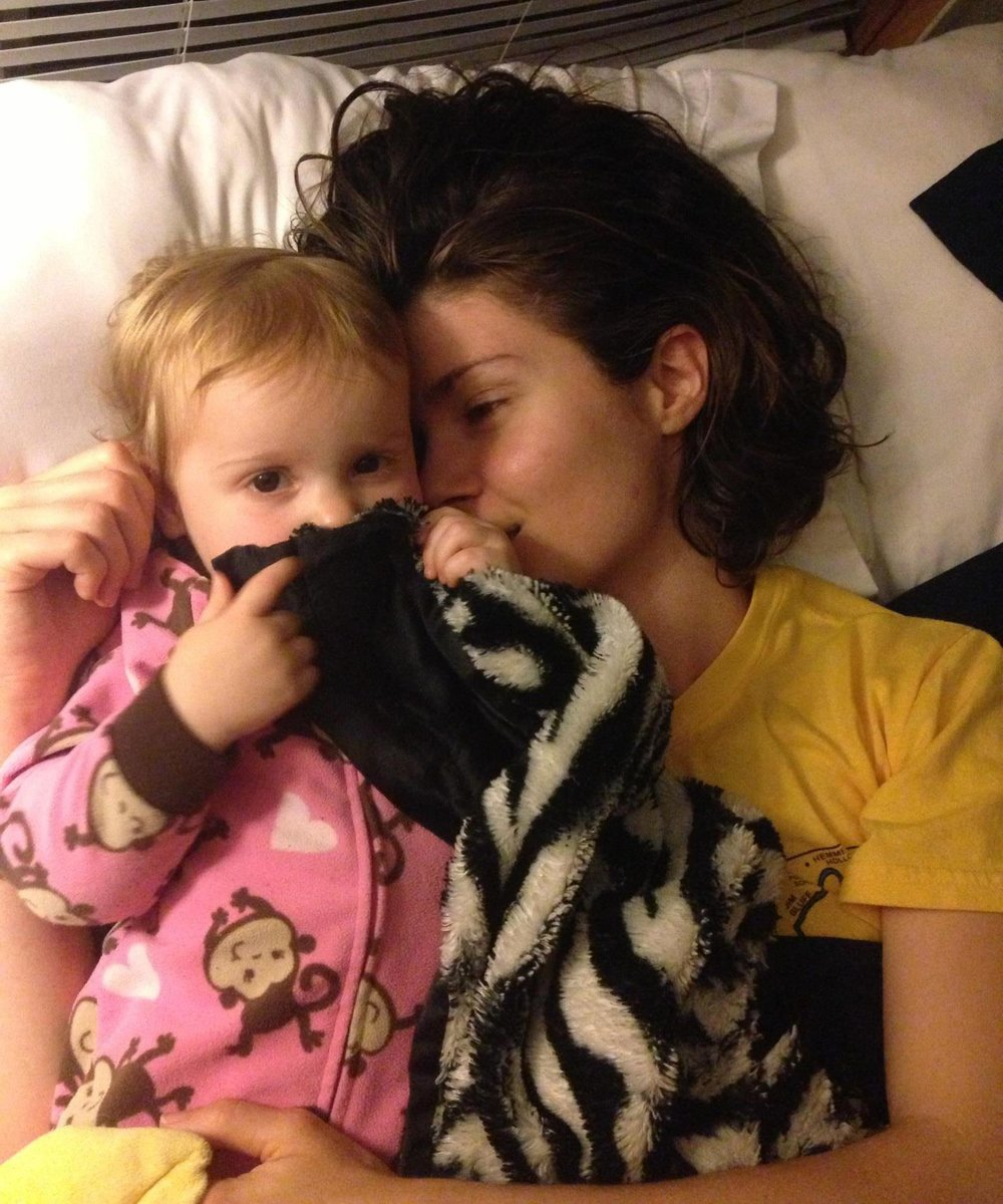 Melissa and her daughter.