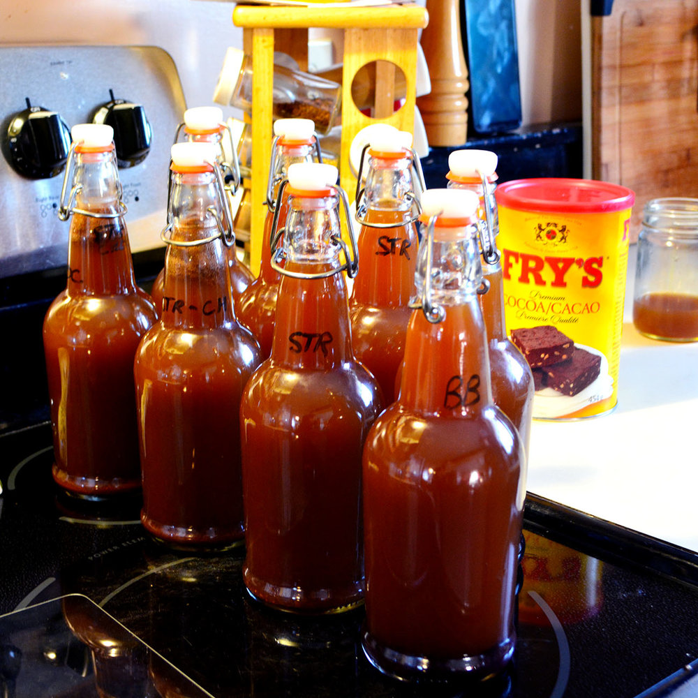 Kombucha, flavoured, bottled and ready to go.