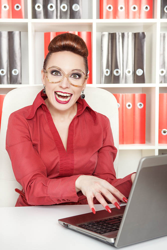 Crazy Writer Lady is Crazy. Photo courtesy of  darkbird/123RF Stock Photos .