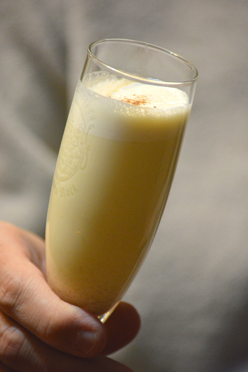 Indulgent Eggnog, with or without dairy