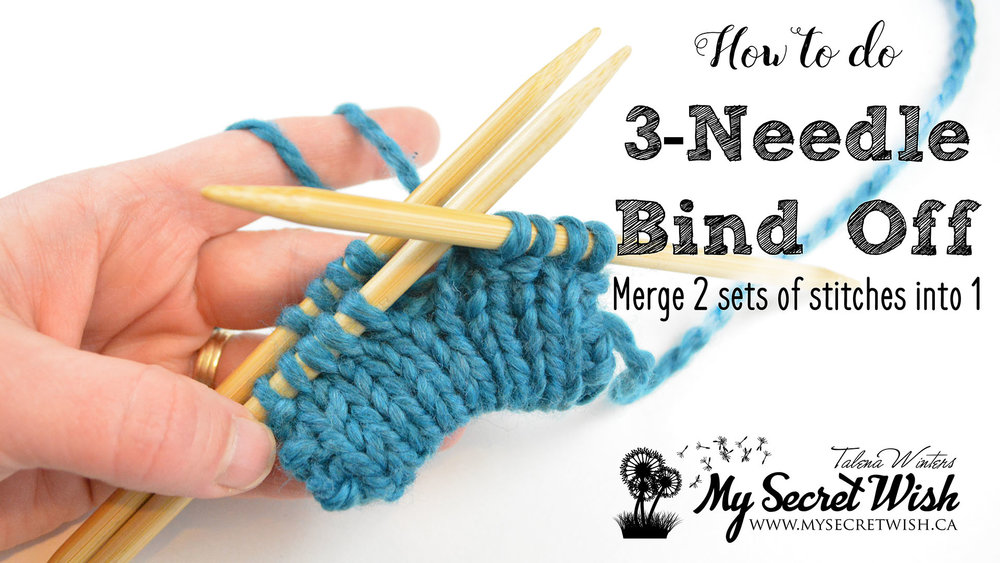 How to do 3-Needle Bind Off to merge two sets of stitches into one.
