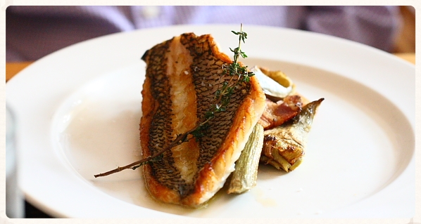 Black Sea Bass with Artichokes