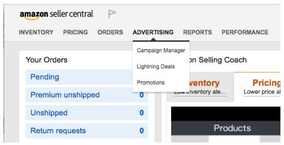 Above: Where to locate Lightning Deals invitations in Seller Central.