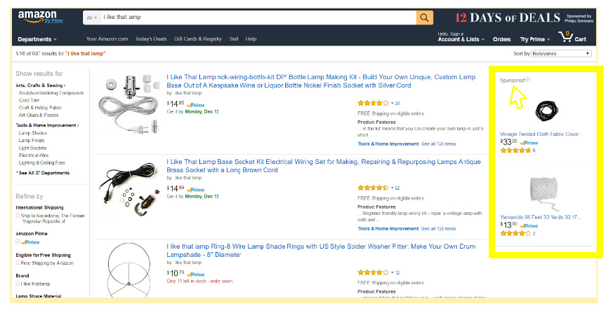 Organic vs. Sponsored Results on Amazon.com