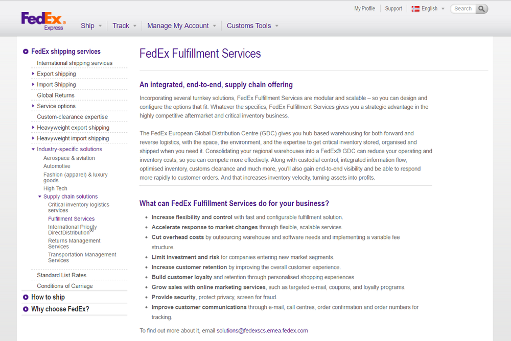 fedex fulfillment - new service - amaxon news for sellers - bobsled marketing