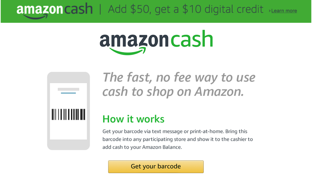 Amazon launched Amazon Cash