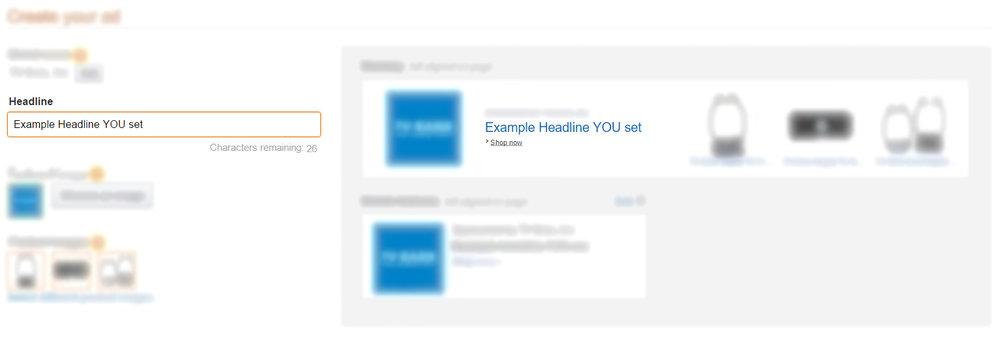 Headline Search Ads - Amazon AMS