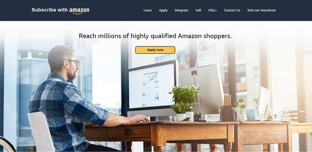 Homepage subscribewithamazon.com