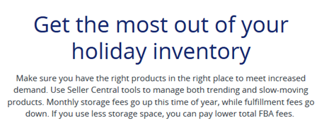 Above: Amazon's own best practices when it comes to Inventory Management