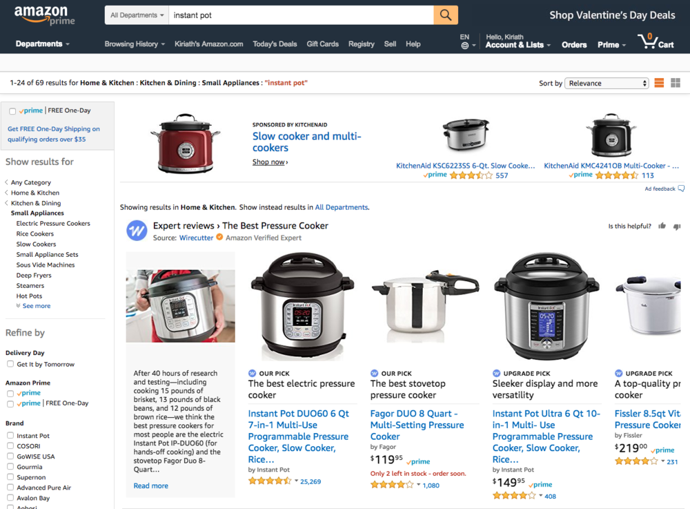 Expert Reviews Content on Amazon Search Results