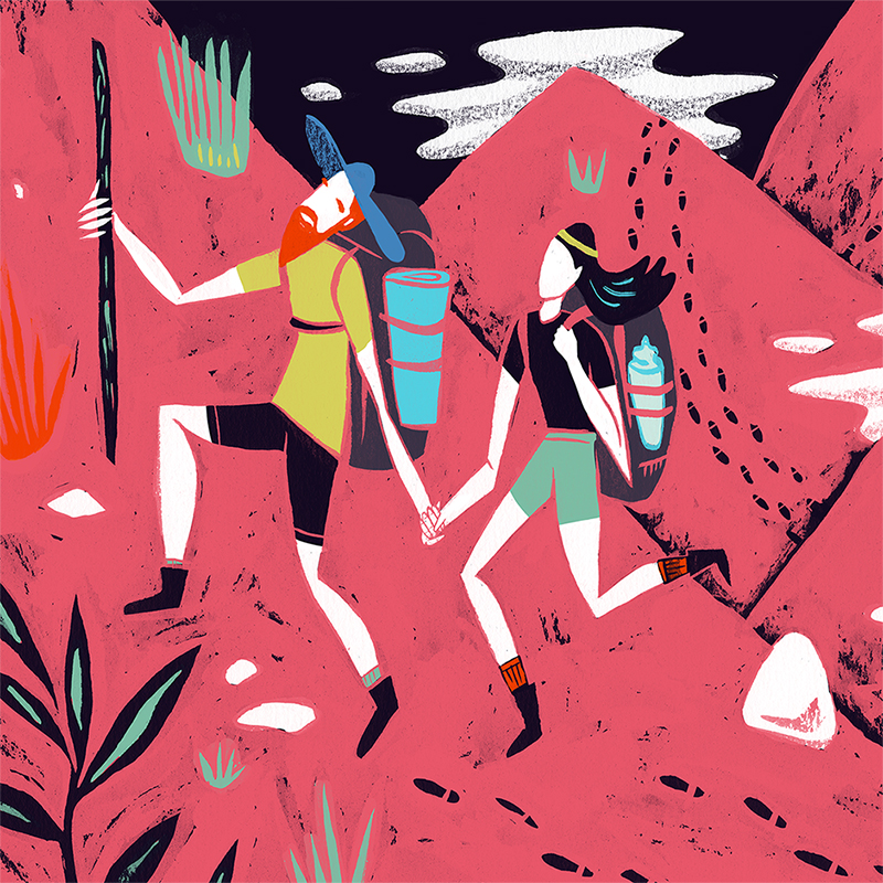 Illustration for the Sex, Drugs & Helveticaarticle;'The Short Road to Long Relationships.'