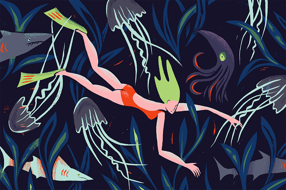 Illustration for the Sex, Drugs & Helveticaarticle;'Why Fear Limits Our Creativity.'