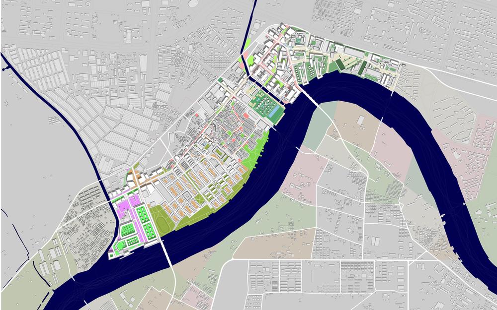 jonathan sun master plan for a ward based linear city tianjin china