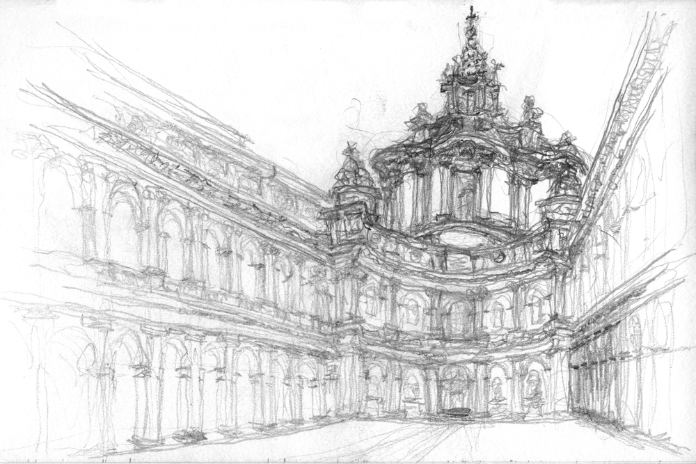 Jonathan Sun Rome Travel Fellowship Sketches