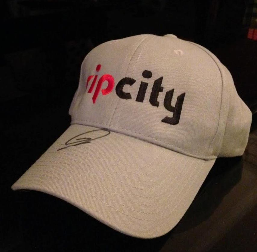 Rip City   hat autographed by  Trail Blazers'  LaMarcus Aldridge!!