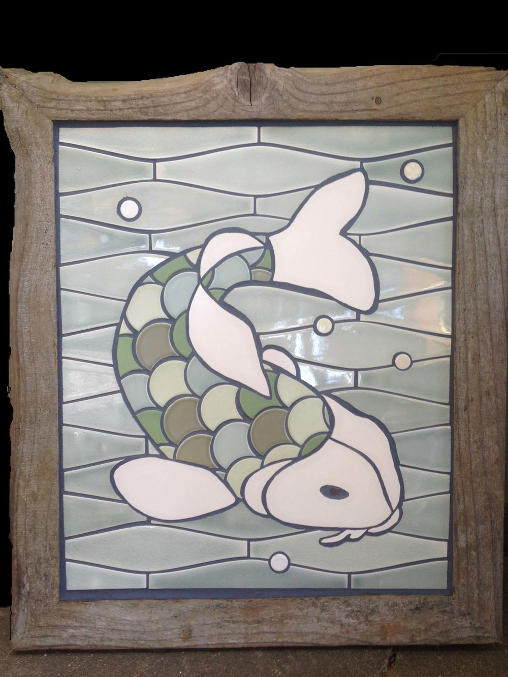 "Greg Byrd's Tile Art ""Koi"""