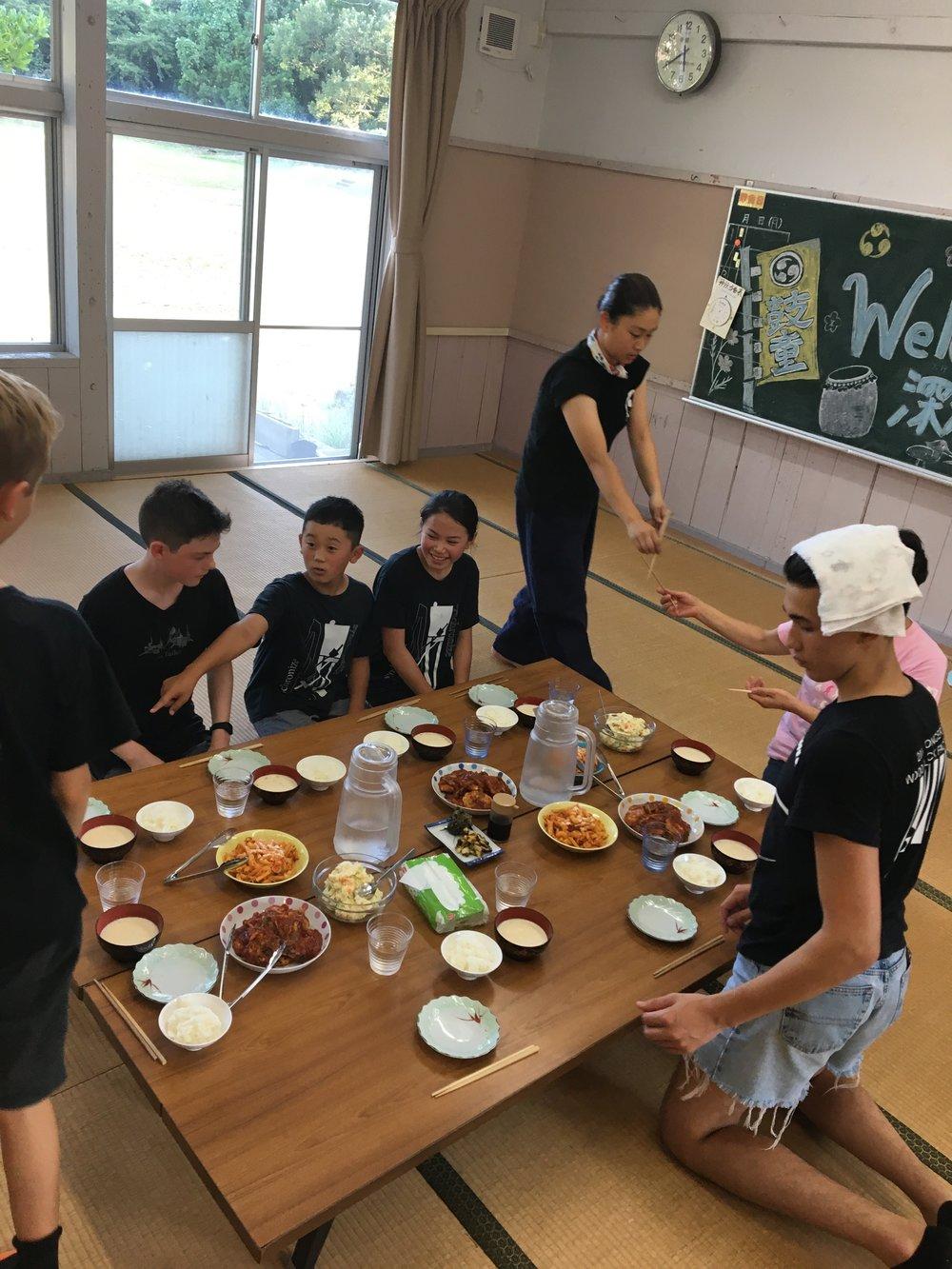 Eat together at KODO village