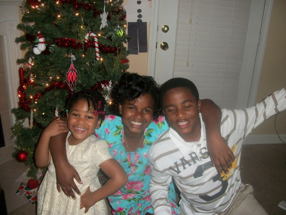 My babies! My daughter and my niece and nephew