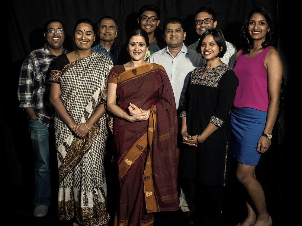 From left to right: Shiva Arunachalam, Prapti Oswal, Neil Vasant, Sindu Singh, Rohan Rangarajan, Pratish Shah, Basab Pradhan, Rashi Garg and Akshaya Ganesh