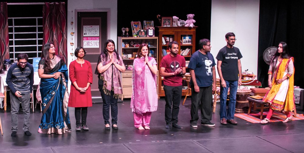From left to right: Raghu Chintapalli, Sowmya Saiprasad, Rashi Garg, Aditi Honawar, Sindu Singh, Dev Milind, Shiva Arunachalam, Sathish Shenoy, Nayana Shenoy. PC: Yael & Gosha Davis