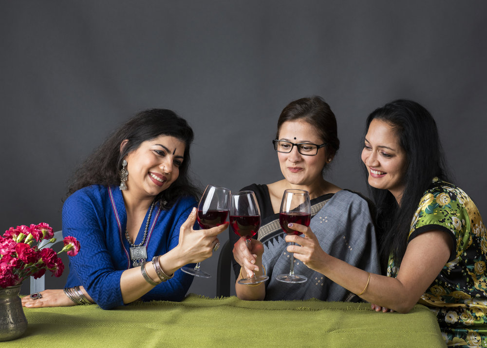 """Girl Friends"" – Sejal Desai, Sindu Singh and Anju Prakash - the women of SONATA. PC: Ashima Yadava"