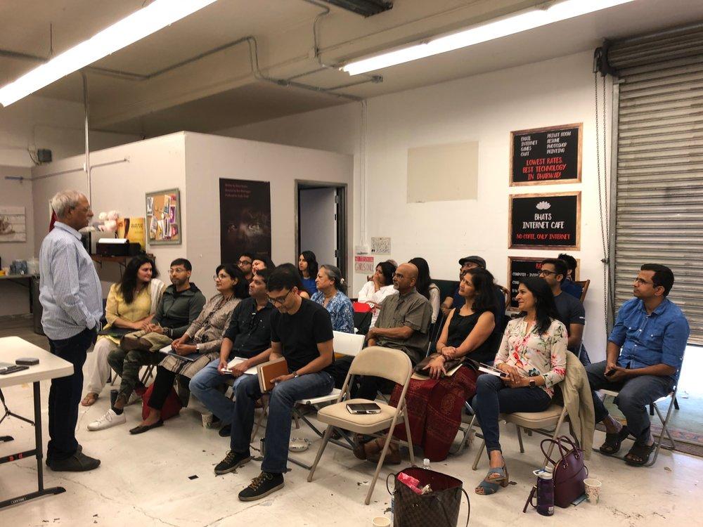 Theatre Workshop with Mahesh Elkunchwar underway at our studio in Belmont
