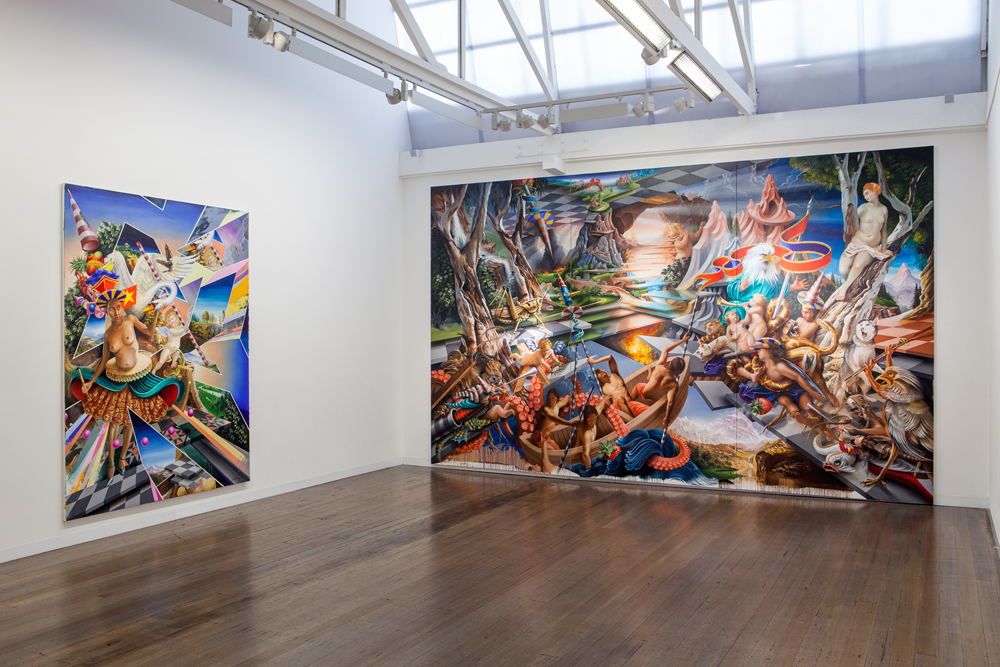 PETER DAVERINGTON   Because Painting  2014 Installation View