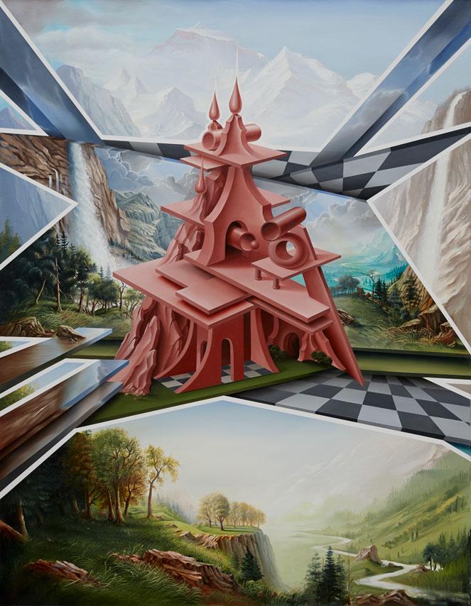 PETER DAVERINGTON   The Lost Horizon  2014 oil on canvas 158 x 122 cm