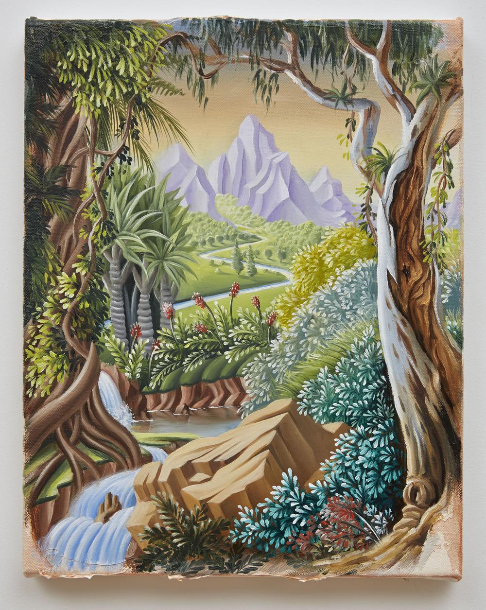 PETER DAVERINGTON   The Meadow of Melancholia  2014 oil on canvas 41 x 32 cm