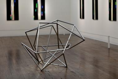 Robert Owen,  Fallen Light A , 2012, stainless steel, 105 x 115 x 170 cm