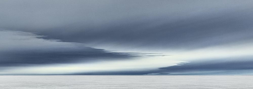 Image: Murray Fredericks,  Icesheet #2338 , 2013, digital pigment print, 50 x 140 cm.