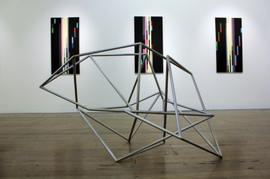 Robert Owen,  Fallen Light A , 2012, stainless steel, 105x115x170cm.