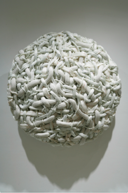 Dani Marti, Snow White, becoming animal, 130cm diameter by 30cm depth, 2006.