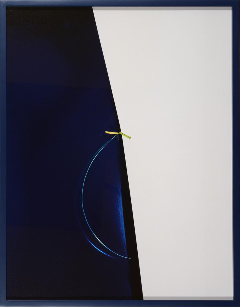 LYDIA WEGNER     Hoop Blue  2014 Archival Inkjet Print  65 x 84 cm