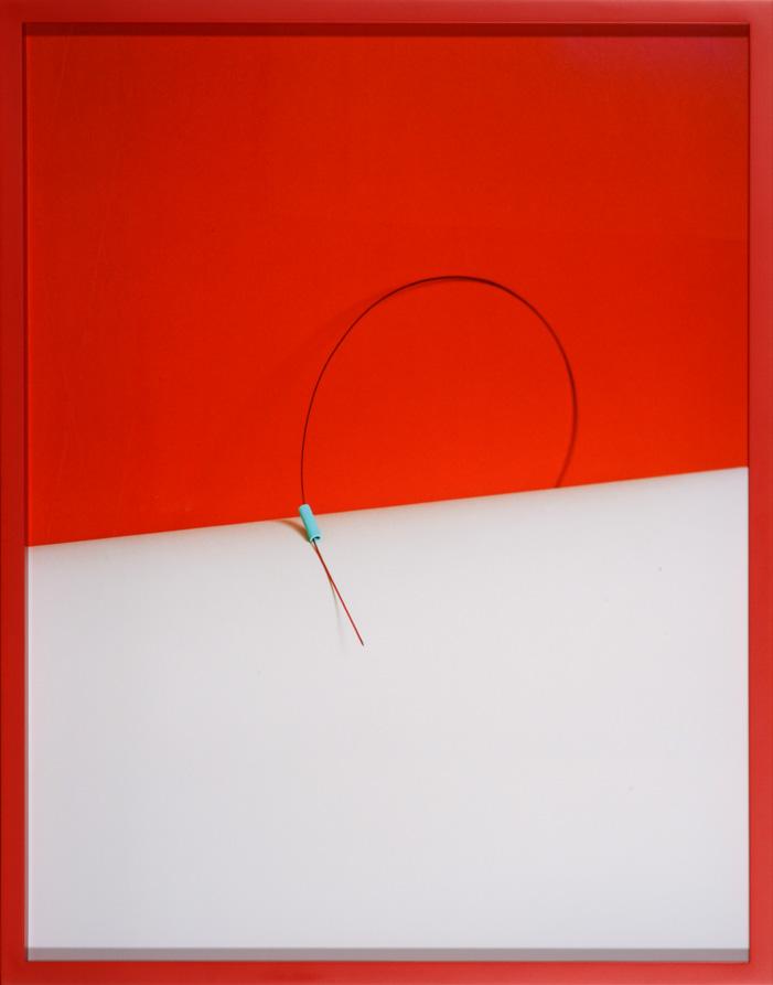 LYDIA WEGNER     Red Ribbon  2014 Archival Inkjet Print   74 x 57 cm