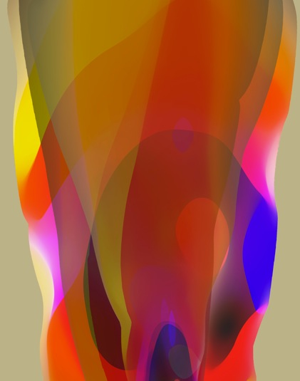 JOHN YOUNG     Veiled Spectrum #1  2014 Oil on linen 190 x 150 cm