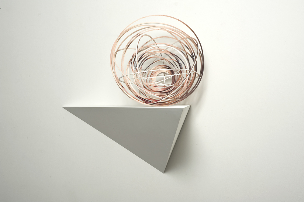 JUSTINE KHAMARA     Orbital spin trick #5  50 x 50 cm UV print on laser-cut, plywood sculpture