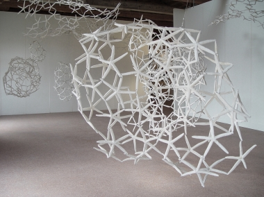 Maria Fernanda Cardoso, Woven Water: Submarine Landscape, 2003, starfish, metal wire, dimensions variable.