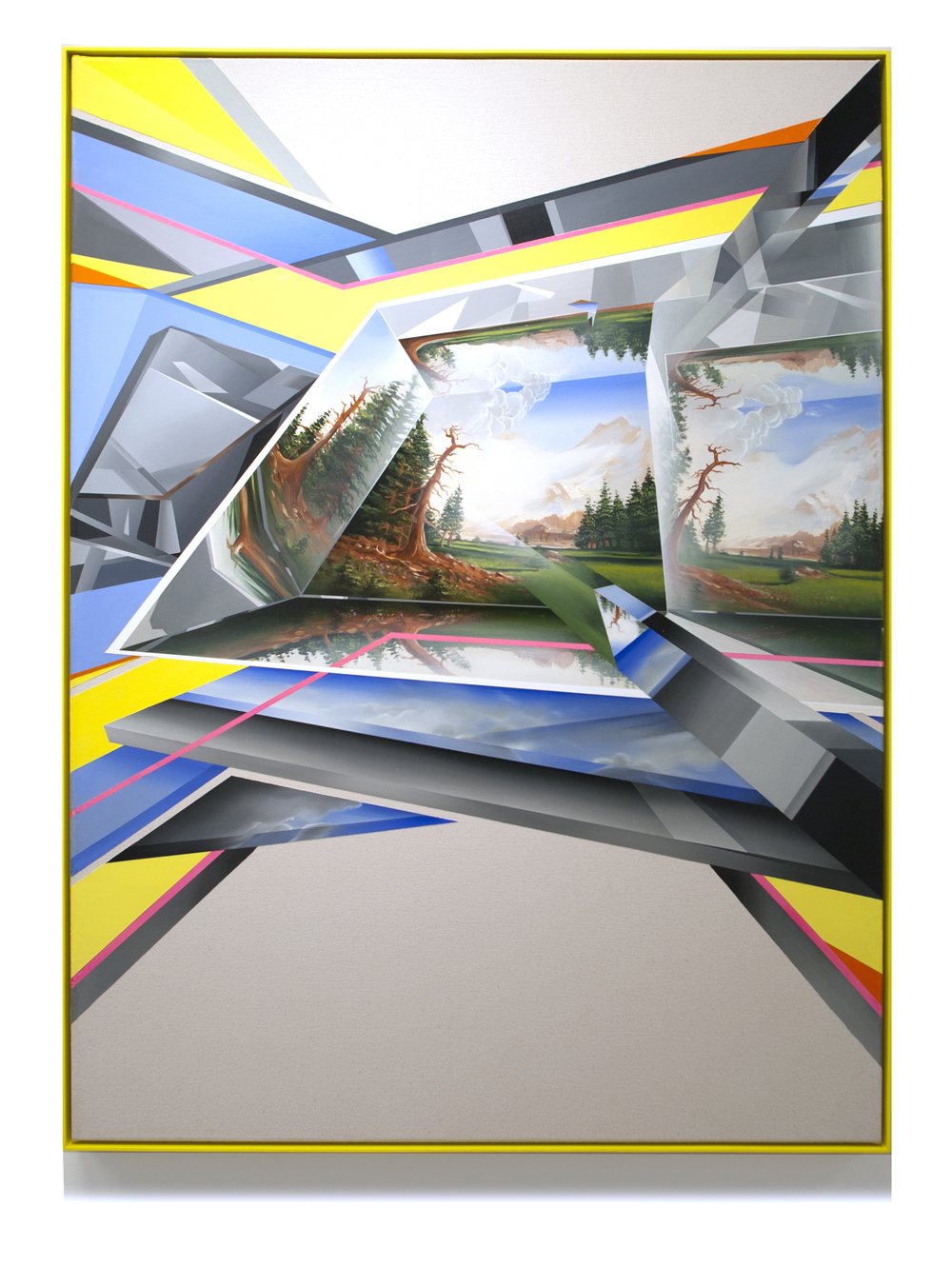 PETER DAVERINGTON     From the Future with Love #2  2013 Oil on canvas with artist's frame 122 X 91 cm