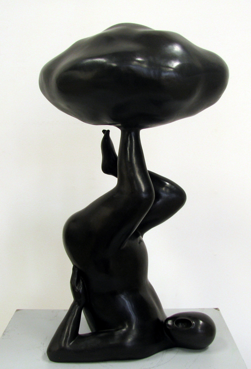 GUAN WEI     Up in the Clouds No. 4  2012 Bronze 60 x 36 cm