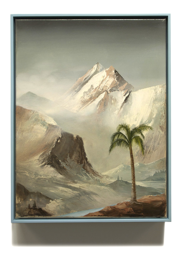 PETER DAVERINGTON     The Glacial Palm  2011 Oil on canvas   43 x 33 cm