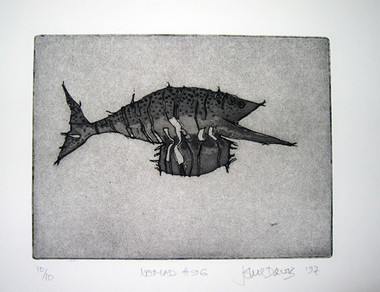 JOHN DAVIS    Nomad #96    1997   Lithograph   28 x 38 cm