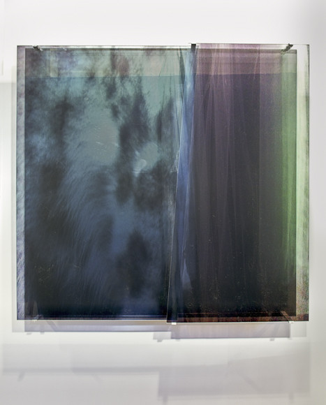 JANET LAURENCE     vanishing series / glimpse / lost mountain, lost forest V  2010 Duraclear, Mirror    102 x 100 cm