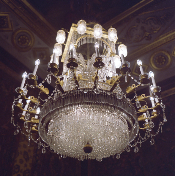 ANNE ZAHALKA     Royal Palace, chandelier, Madrid  1992/2010 1998-2010 Type C Photograph, Edition of 5   80 x 80 cm