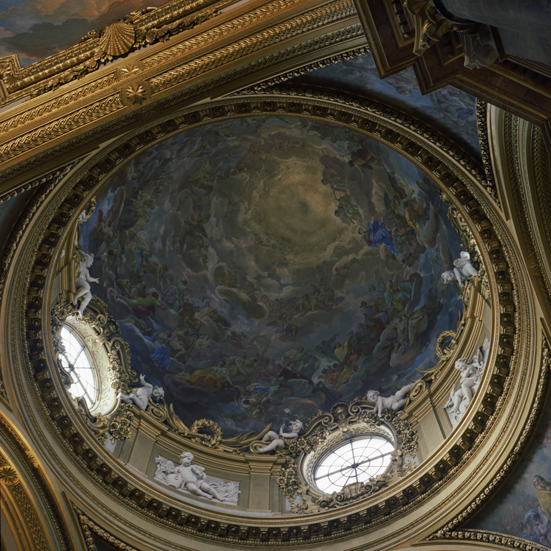 ANNE ZAHALKA     Royal Palace (chapel dome), Madrid  1992/2010 Type C Photograph, Edition of 5   80 x 80 cm