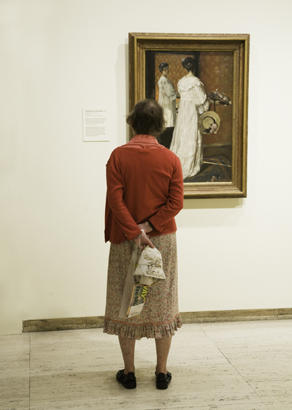 ANNE ZAHALKA     Art Gallery of New South Wales, Rupert Bunny Exhibition  2010 Type C Photograph, Edition of 5   33 x 50 cm
