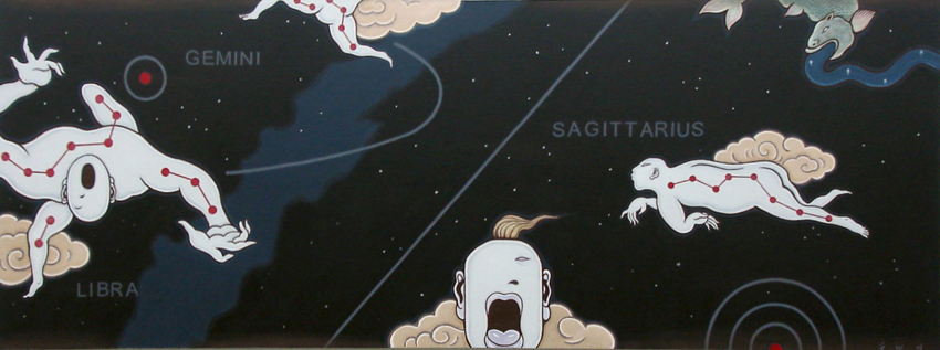 GUAN WEI     Zodiac No. 1  2008 Acrylic on canvas 80 x 220 cm