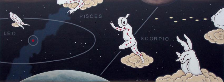 GUAN WEI     Zodiac No.3  2008 Acrylic on canvas 80 x 220 cm