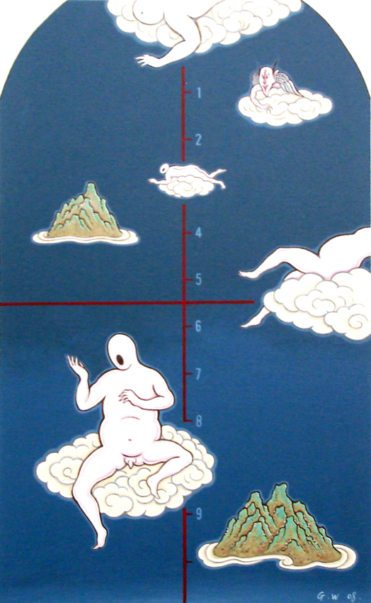 GUAN WEI     On Cloud No.1  2006 Acrylic on canvas 130 x 80 cm