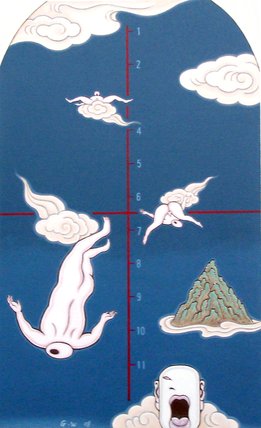 GUAN WEI     On Cloud No. 3  2008 Acrylic on canvas 130 x 80 cm